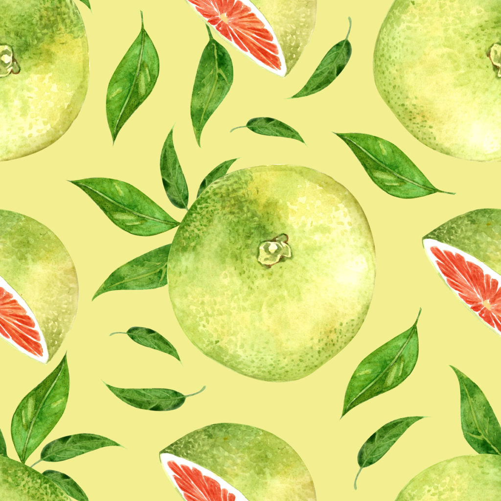 Lime Green Grapefruit Pattern © Cynthia Oswald