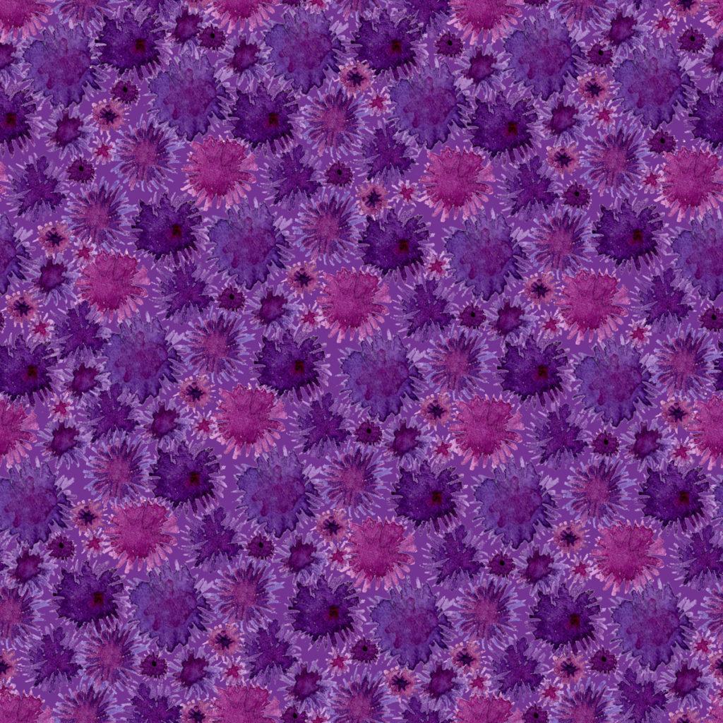 Purple Flowers Desert