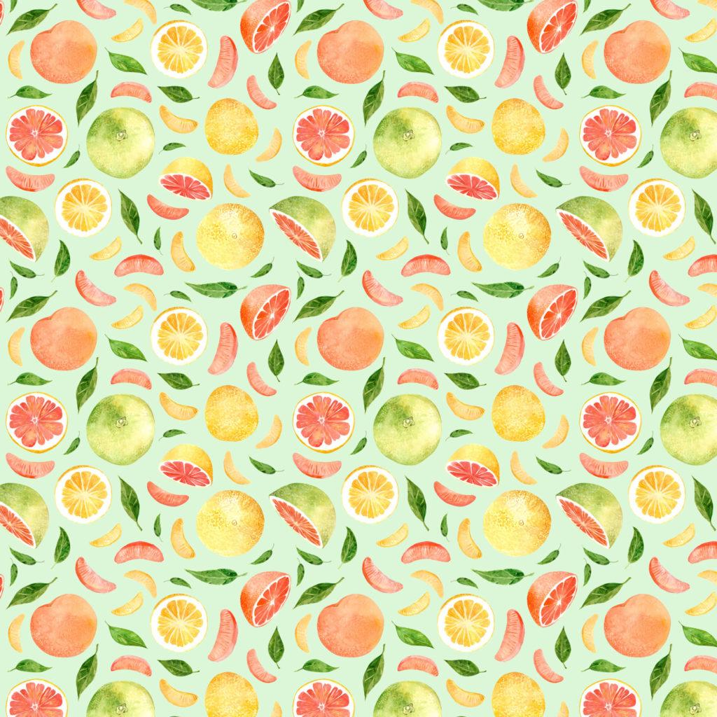 Rainbow River Grapefruit Pattern