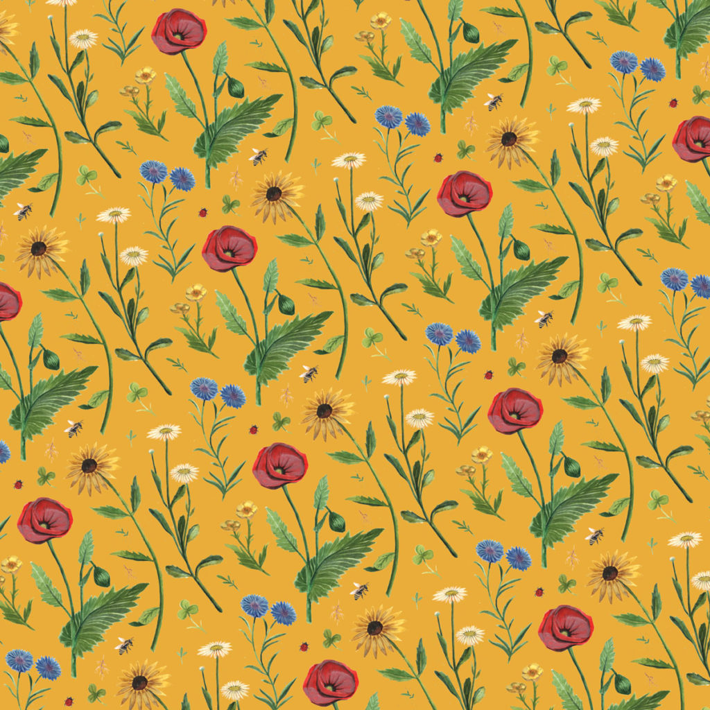 Wildflowers Pattern Design © Cynthia Oswald