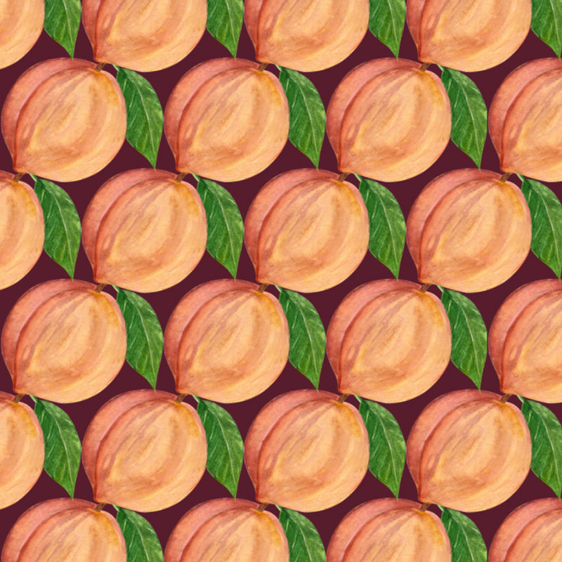 Peaches Pattern © Cynthia Oswald