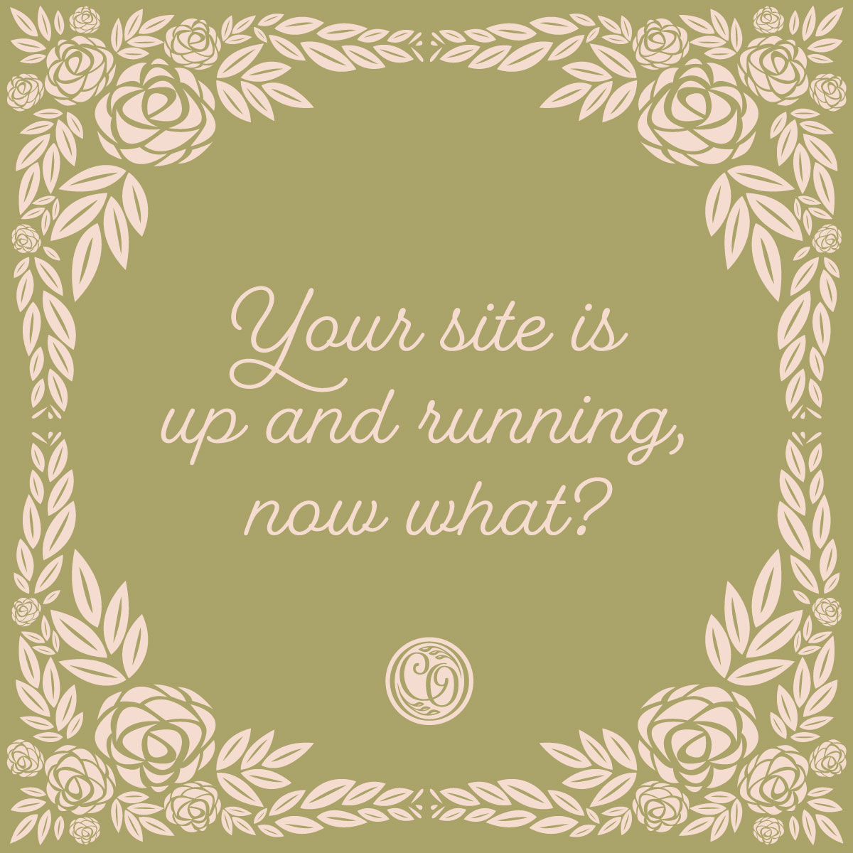 Your site is up and running, now what?