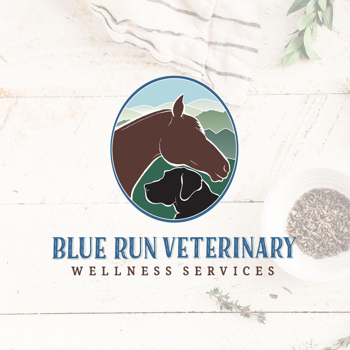 Blue Run Veterinary Wellness Logo