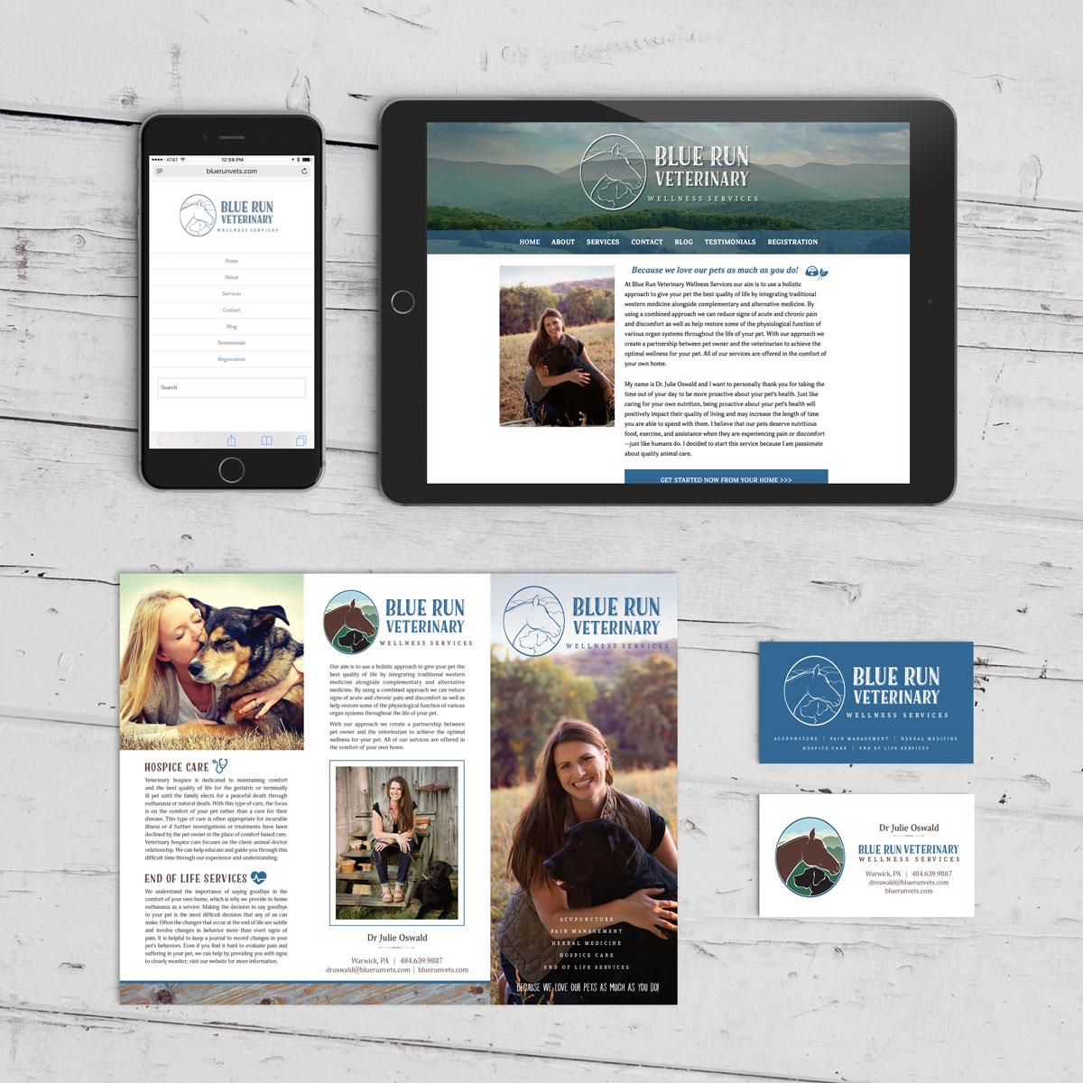 Blue Run Veterinary Wellness Branding