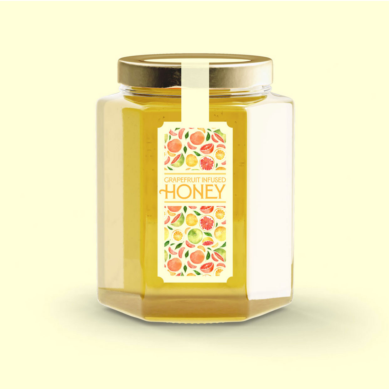 Grapefruit Infused Honey Label