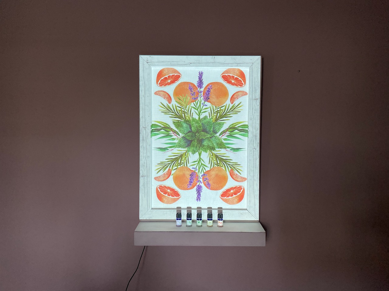 Display frame interactive with projector
