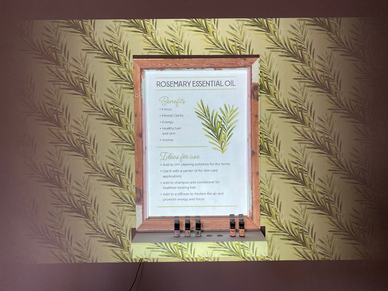 Rosemary Essential Oil display