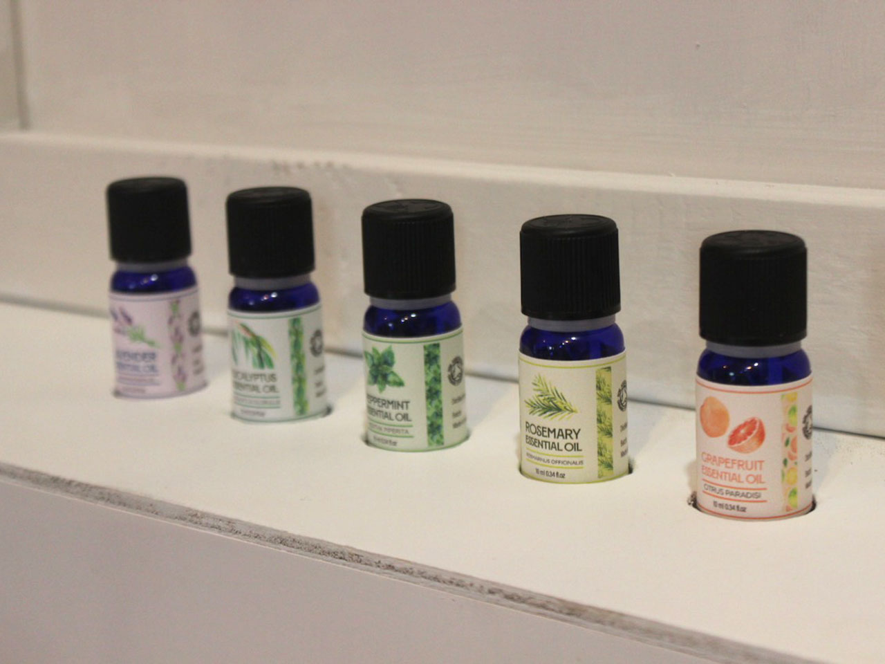 Essential oils in display